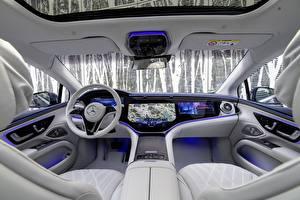 Картинка Мерседес бенц Салоны Автомобильный руль EQS 450 AMG Line, (Worldwide), (V297), 2021 машина