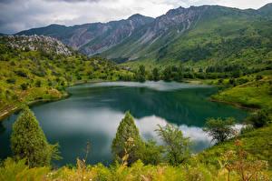 Фотографии Горы Озеро Lake Sary-Chelek, Kyrgyzstan