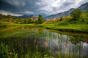 Обои Гора Озеро Lake Sary-Chelek, Kyrgyzstan Природа