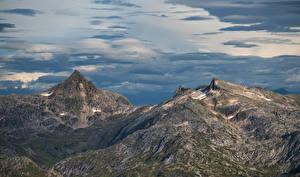 Обои Норвегия Гора Облако Bukketinden