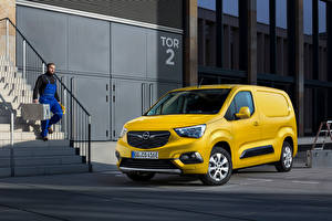 Обои для рабочего стола Opel Фургон Желтый Металлик Combo-e Cargo XL, (Worldwide), 2021 Автомобили