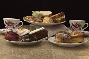 Картинки Выпечка Кекс Завтрак Тарелка Кружка Еда