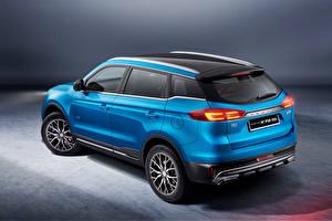 Обои Синяя Металлик CUV Proton X70 Special Edition, 2021 автомобиль