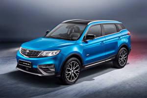Фотографии Кроссовер Синие Металлик Proton X70 Special Edition, 2021 машины