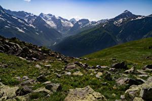 Фото Россия Горы Камень Dombay Природа