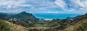Фотография Тайвань Гора Берег Панорама Облака Keelung Mountain