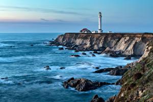 Фотография Штаты Берег Маяки Калифорния Point Arena lighthouse