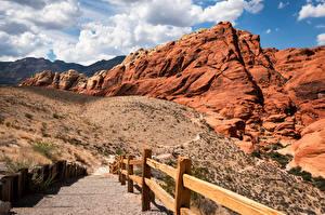 Фотографии США Горы Скале Облако Red Rock Canyon, Nevada