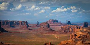 Фотография Америка Парки Утес Облака Monument Valley Природа