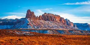 Картинка США Парк Горы Пейзаж Скалы Canyonlands National Park Природа