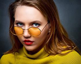 Фотография Лицо Взгляд Очки Ulya, Nikolay Bobrovsky девушка