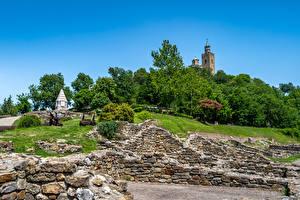 Обои для рабочего стола Болгария Крепость Fortress Tsarevets Города