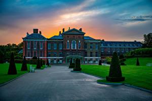 Обои для рабочего стола Англия Ландшафтный дизайн Лондоне Дворца Kensington Palace Города