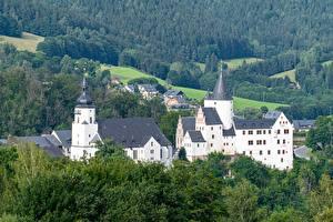 Фотография Леса Замки Германия Schwarzenberg Castle, Erzgebirgskreis, Saxony