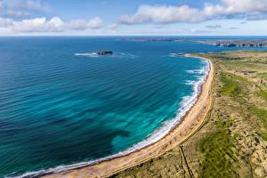 Фотографии Ирландия Побережье Облачно Сверху Pollan Bay
