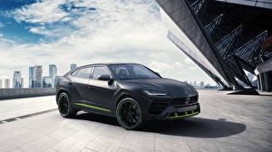 Обои Lamborghini Черный 2020-21 Urus Graphite Capsule Автомобили картинки