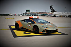 Фотографии Lamborghini Тюнинг Серая 2021 Huracán EVO Follow Me Car