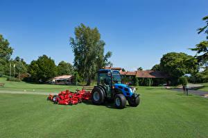 Обои Трактор Синий Газон Landini 2-050 STD Cab, 2016 Еда картинки