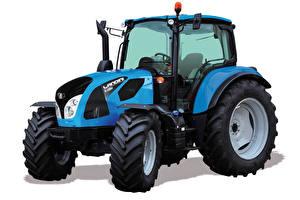 Обои Трактора Синяя Белый фон Landini 6-135H, 2018