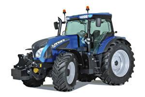 Картинка Трактор Синяя Белый фон Landini 7-215, 2014