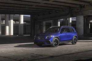 Фото Mercedes-Benz CUV Синие 2021 AMG GLB 35 4MATIC авто