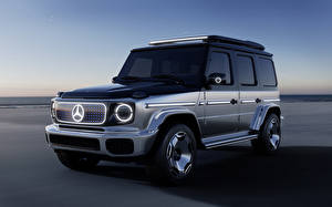 Обои Mercedes-Benz SUV Серебристый 2021 Mercedes-Benz Concept EQG Автомобили картинки