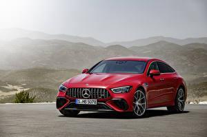Обои для рабочего стола Mercedes-Benz Купе Красный 2021 AMG GT 63 S E Performance 4-Door Coupé Worldwide авто