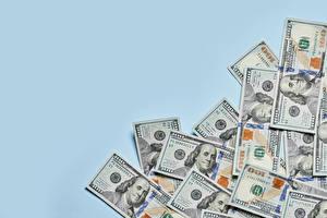 Фотография Деньги Купюры Доллары Цветной фон