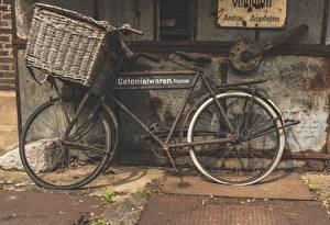 Картинки Винтаж Корзинка Велосипед Сбоку Старый