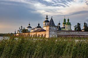 Картинки Россия Монастырь Башни Kirillo-Belozersky Monastery