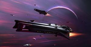 Обои Звездолёт Star Conflict Полет