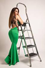 Фотография Фотомодель Поза Платья Лестница Stefania