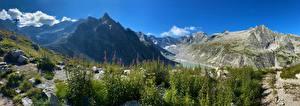 Фотографии Швейцария Гора Панорама Альп Bregaglia