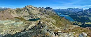 Фотографии Швейцария Гора Панорама Альпы Piz Lunghin