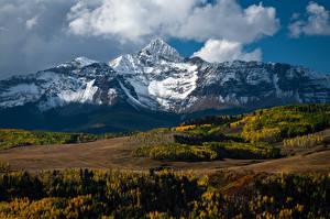 Обои для рабочего стола Америка Гора Осень Пейзаж Облако Mount Wilson Природа