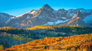 Фото Штаты Гора Пейзаж Осенние Colorado
