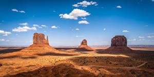 Фотография США Небо Скала Облачно Monument Valley, Utah Природа