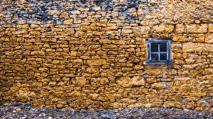 Обои Стена Окно Каменные Природа картинки