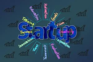 Фотография Бизнес Слово - Надпись Английская startup